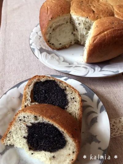 【炊飯器でパン作り】黒ゴマ餡のちぎりパン