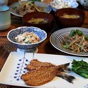 いわしのみりん焼き と 豚ごぼう。和食ごはん。