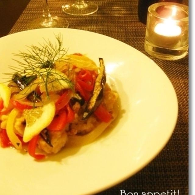カラフル夏野菜たっぷり♪鶏のエスカベッシュ(=洋風南蛮漬け) ※レシピ付き