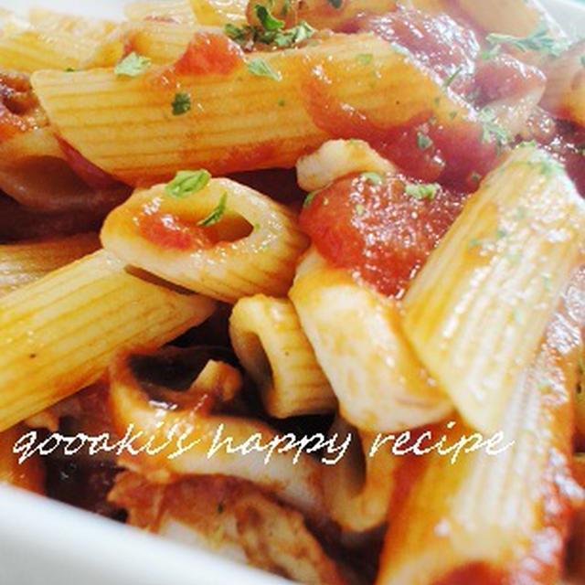 ■ イカと帆立のペンネ トマトソース
