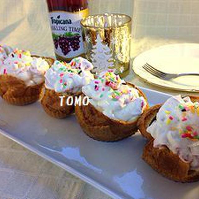 おうちバルを楽しもう♪ポップオーバー in フルーツクリーム