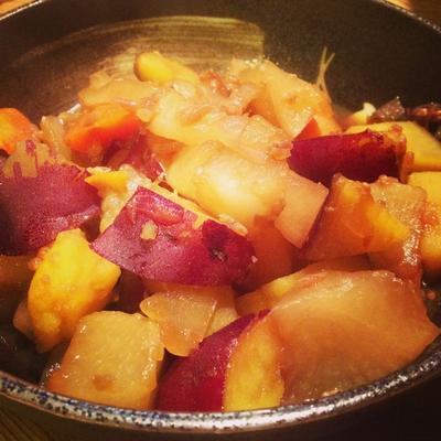 根菜の醤油麹de煮物