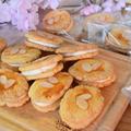 天ぷら粉でレーズンサンドクッキー。さっくさくで軽いクッキーとバタークリームの相性抜群、大人のお菓子。