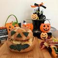 ハロウインに・・パンの器de熱々かぼちゃグラタン☆