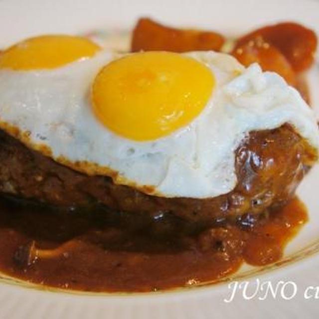 ☆L'homme cuisine:チーズ入り煮込みハンバーグ☆