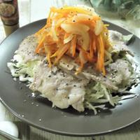 レンジでチンして、たっぷりのっけたよ~ 『香味野菜 焼き肉サラダ』