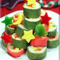 チーズ薫る ロール寿しのクリスマスツリー