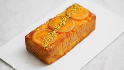 オレンジのアップサイドダウンケーキのレシピ