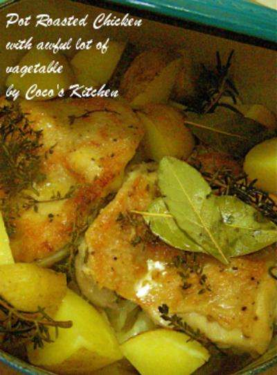 冬ウマその弐☆鶏もも肉と野菜の蒸し煮