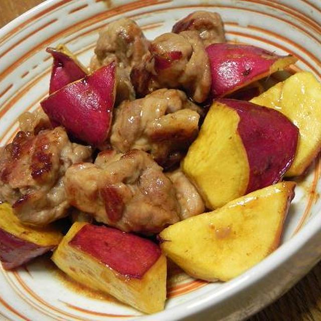 豚肉とさつまいもの簡単煮物