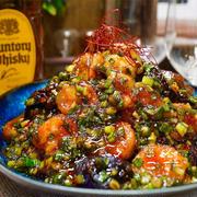 【レシピ】海老と茄子のやみつきネギだく香味ダレ