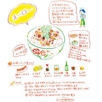 ルーロー(イラスト&レシピ:オカヤイヅミ)