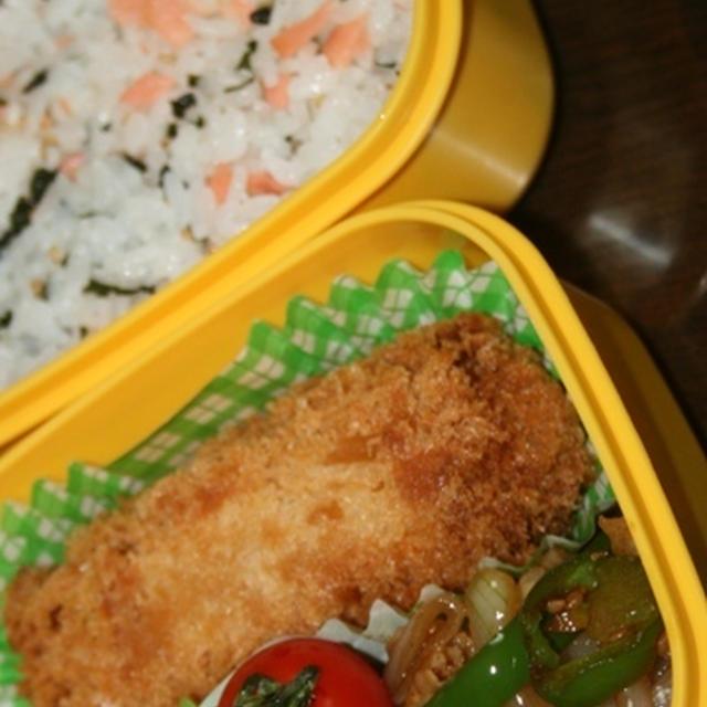8月22日  コロッケ焼肉弁当(練習)