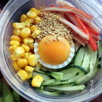 【本日のお弁当】蒸し暑い日には素麺弁