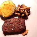 牛モモのステーキとじゃがいものグラタン