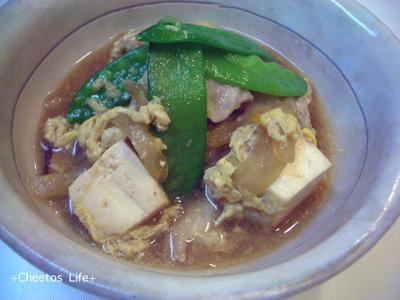 豆腐と豚肉の卵とじ