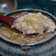 カニ豆腐のふわとろ蒸し 餡かけソース