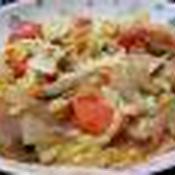 キャベツと根菜類のケチャップ煮込み