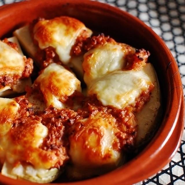 筍の納豆チーズ焼き