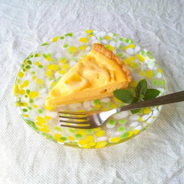 水切りヨーグルトで、サツマイモのチーズタルト