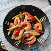 海老と彩り野菜のオイスター炒め