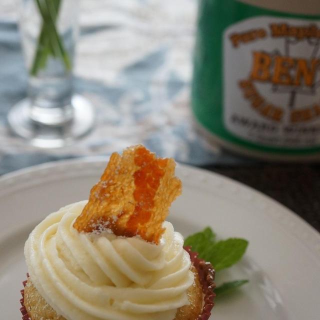 メープルシロップとベーコンのカップケーキ