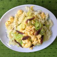 新キャベツといりたまごの春色サラダ