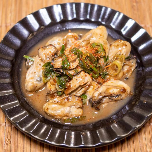 下処理をしっかりと「牡蠣バターポン酢炒め」&新聞連載も牡蠣レシピでしたー
