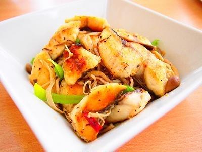 塩サバといろいろ野菜の炒め物