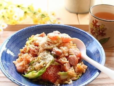>10分ランチ! リゾット風、にんにく焼きトマトごはん by 庭乃桃さん