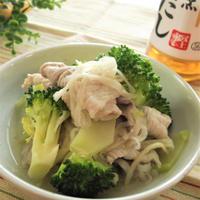 フライパンで簡単!豚肉×ブロッコリー×切干大根の白だしさっと煮