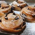 ★おせち片付け黒豆ブレッド&チキンのきのこクリーム仕立ての献立