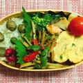 むかごごはん・鮭缶とブロッコリー炒め弁当・海外のお客様⑤