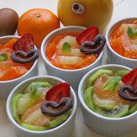 食べきりサイズ♡簡単!グレープフルーツが主役のフルーツたっぷりの大人気分なレア―チーズケーキ