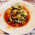 にらたっぷりの韓国風ピリ辛麺♪