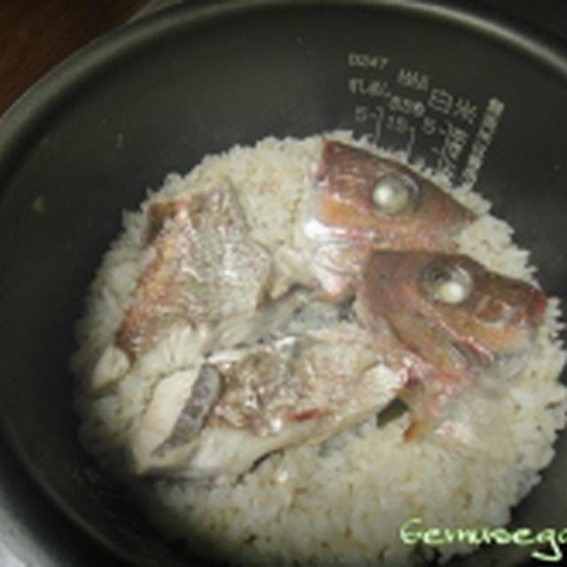 炊飯器で簡単~鯛めし~