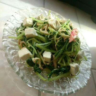 ☆水菜とカニカマのマヨワサチーズあえ☆