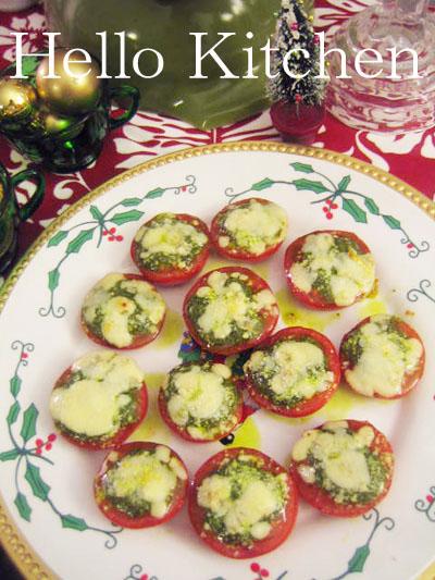 ジェノベーゼトマトのチーズ焼き