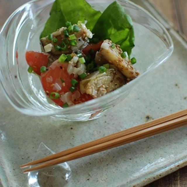 ねぎまみれ☆なすとトマトの塩ナムル