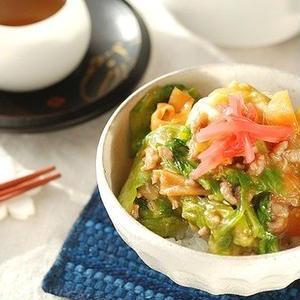 野菜をいっぱい食べよう♪キャベツが主役の丼レシピ