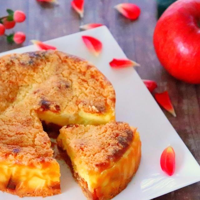りんごのキャラメリゼが美味♡クランブルチーズケーキの作り方レシピ[料理動画]