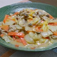 とろ〜り、まろやかおかずで疲労回復〜パパっと簡単!豚肉と白菜の豆乳とろみ炒め。