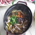 焼きネギが美味しい♪ staubで 鴨鍋 (〆は、お蕎麦) by カシュカシュさん