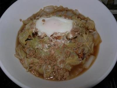 ◎[煮物]白菜と油揚げのめんつゆ煮