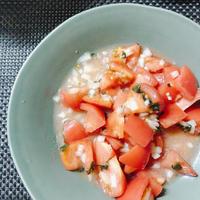 さっぱり!簡単!トマトとバジルのマリネ サラダ