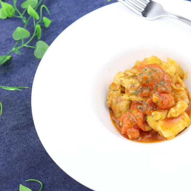 トマトと卵のピリ辛中華炒め