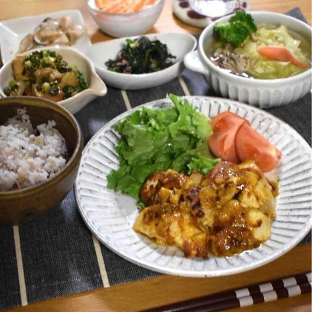 【カレーマヨチキン】#むね肉#漬けおきおかず#簡単#柔らかむね肉 …筋トレ後の晩ごはん