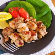 作り置きやお弁当にも♪冷めても美味しい♪『レモン香る♡鶏のガーリック塩ペッパー焼き』