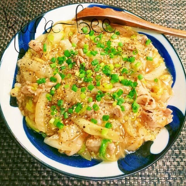 ハフハフ食べたい♡豚バラと白菜の簡単中華とろみ煮