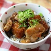 鶏肉と絹揚げの照り焼き丼